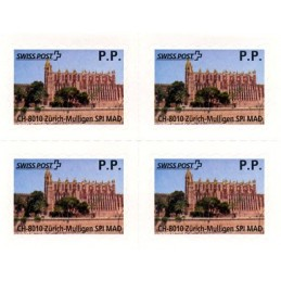 ESPAÑA (2012). SWISS POST - Balearic Card P.P. Bloque de 4