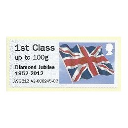 R. UNIDO (2012). Union flag (Diamond J) - A9GB12 A2. ATM nuevo