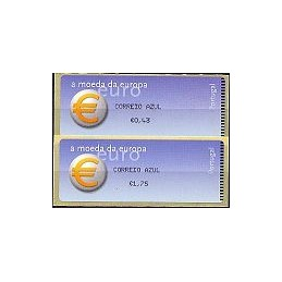 PORTUGAL (2002). Euro, a moeda - Crouzet negro. Serie 2 val.