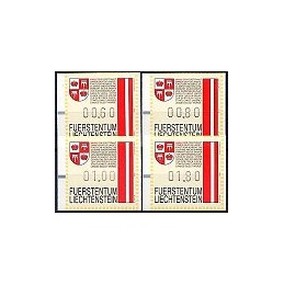 LIECHTENSTEIN (1995). Blasones. Series 4 val. (x 11)