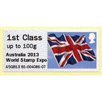 2013. Hytech - Special imprint 'Australia 2013 World Stamp Expo'