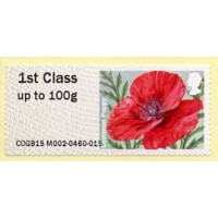 2015. Common Poppy (amapola) - Papel MA15