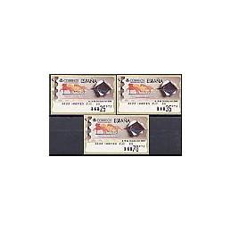 ESPAÑA. 37. España 2000. PTS-5E. Serie 3 val.