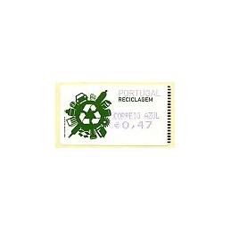 PORTUGAL (2009). Reciclaje. Amiel azul - CA. ATM nuevo