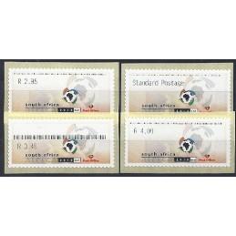 ÁFRICA SUR (2004). FIFA 2010. Serie 4 val. (2)