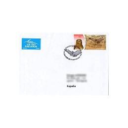 ISRAEL (2009). Águila culebrera - 001. Sobre P. D. (España)