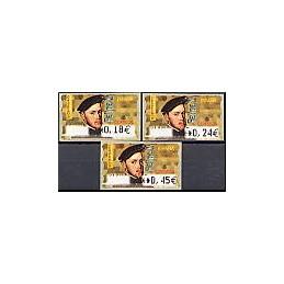 ESPAÑA. 28E. Felipe II. EUR-5A. Serie 3 val.