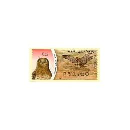 ISRAEL (2009). Águila culebrera - 012. ATM nuevo