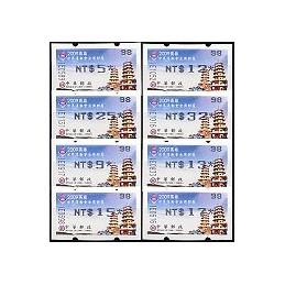 TAIWÁN (2009). W. Games Kaohsiung - negro. Serie 8 val. ( 98)
