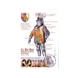 FRANCIA (2009). René 1er Anjou. Tarjeta máxima (Aix - 3)