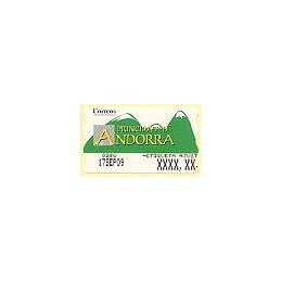 ANDORRA. Montañas verdes- 5. 0280. Etiqueta ajuste