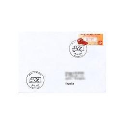 BÉLGICA (2009). Vehículos postales. Sobre P. D. (España)