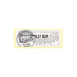 FRANCE (2009). Musée de la Poste. ATM, matasello (0,51)