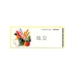 PORTUGAL (2009). Alimentación - Crouzet negro. ATM (0,32)