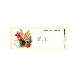 PORTUGAL (2009). Alimentación - Crouzet negro. ATM (0,01)