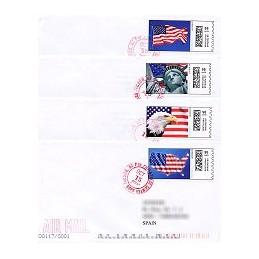 EEUU (2009). 1711. Liberty. Sobres a España