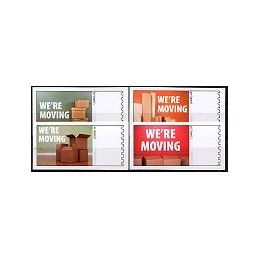 EEUU (2009). 1714. We are Moving. Etiquetas en blanco