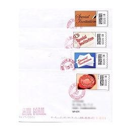 EEUU (2009). 1713. Invitation. Sobres a España