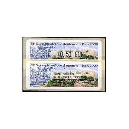 FRANCE (2009). 63 Salon - Portugal. ATM (E 0,51) + rec. (1r. día