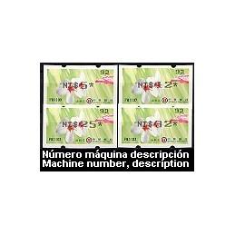 TAIWÁN (2009). Flores Tung (3)- negro. Serie 4 val. - nac. ( 93)