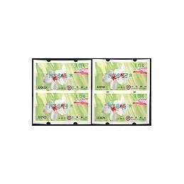 TAIWÁN (2009). Flores Tung (3)- verde. ATMs nuevos (104)