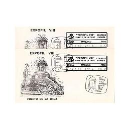 ESPAÑA (1989). EPC 18 - EXPOFIL VIII. Sobres P.D. - serie (x 2)