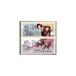 CHIPRE (2010). Muflón Chipre. 004. 2 ATMs nuevos