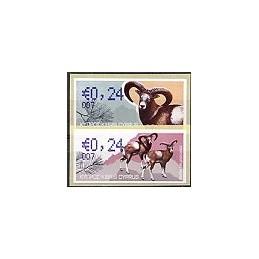CHIPRE (2010). Muflón Chipre. 007. 2 ATMs nuevos