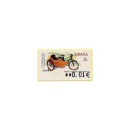 ESPAÑA. 85. Mobylette AU-HT. 5A. ATM nuevo (0,01)