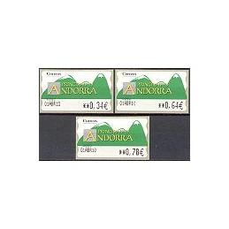 ANDORRA. Montañas verdes- 5. 0083. Serie 3 val. (2010), Fecha