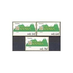 ANDORRA. Montañas verdes- 5. 0280. Serie 3 val. (2010)