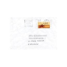 PORTUGAL (1990). Emblema postal (2). Sobre a Suecia