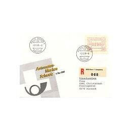 SUIZA (1990). Emblema postal. Sobre primer día (certificado)