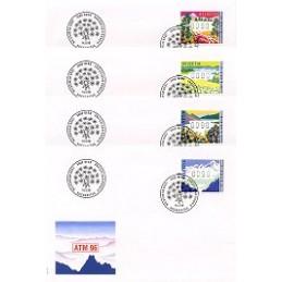 SUIZA (1996). Estaciones del año. Sobres primer día (x 4)