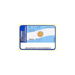ARGENTINA. Bandera Argentina. Sello nuevo