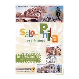 FRANCIA (2010). Salon Printemps Colmar. Folleto conmem. (1r. día