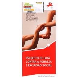 PORTUGAL (2010). Pobreza - Epost AZUL. Tríptico, primer día