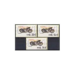 ESPAÑA. 86a. Sanglas 3501 - Corte inv. 5A. Serie 3 val.