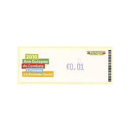 PORTUGAL (2010). Pobreza - Crouzet AZUL. ATM nuevo (0,01)