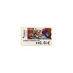 ESPAÑA. 90. Sammer G. Bodegón Tulipanes. 5A. ATM nuevo (0,01)
