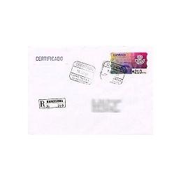 ESPAÑA. 11.1. Emblema postal (2). PTS-4 Mobba. Sobre (certif.)