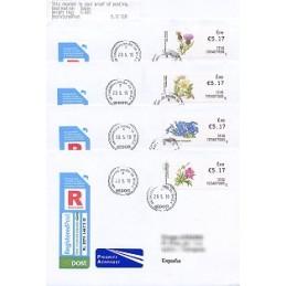 IRLANDA (2010). Flores - 70704. Sobres P.D. (Certif.-España)