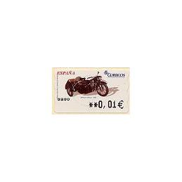 ESPAÑA. 96. DKW con sidecar. 5A. ATM nuevo (0,01)