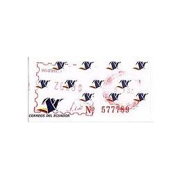 ECUADOR. Logotipo correos (4C). H058. Sello nuevo ($00.02)
