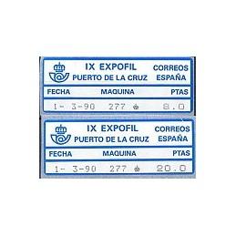 ESPAÑA (1990). 26. IX EXPOFIL - 277. Serie 2 val.