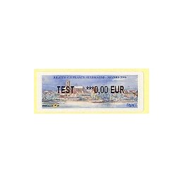 FRANCIA (2006). France - Allemagne. Etiqueta Test