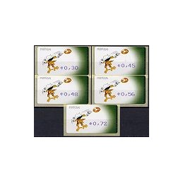 PORTUGAL. Kinas - Amiel-Azul-Coma. Serie 5 val.