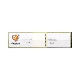 PORTUGAL (2003). Euro 2004 - Crouzet negro. C. AZUL. Serie 2 val