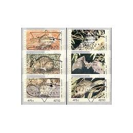 AUSTRALIA (1993). Especies amenazadas - ACT93. ATMs, matasello