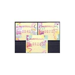 AUSTRALIA (1998). Frama festiva. ANDA SA 98 (1). Serie 3 val.